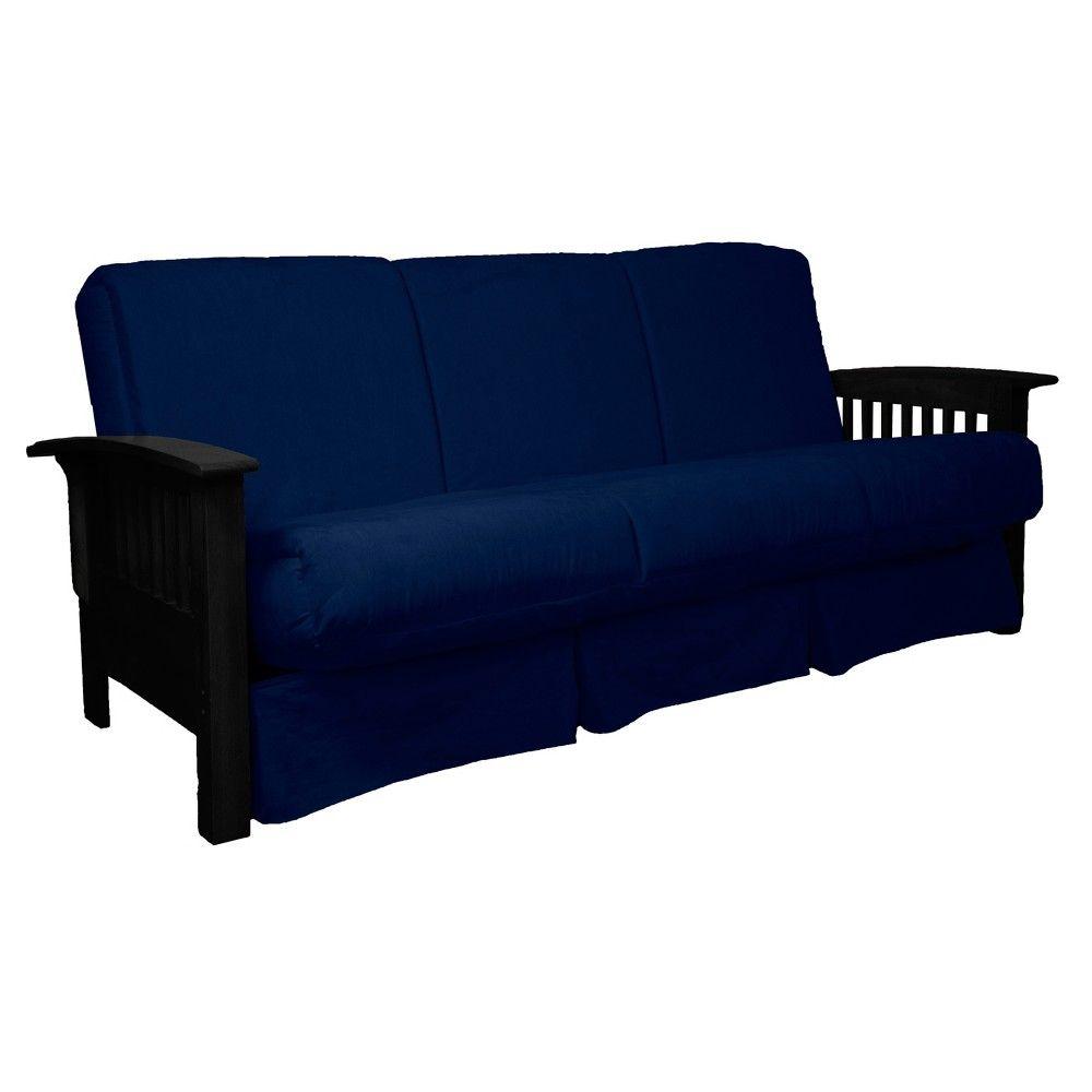 stickley perfect futon sofa sleeper black wood finish dark blue rh pinterest com