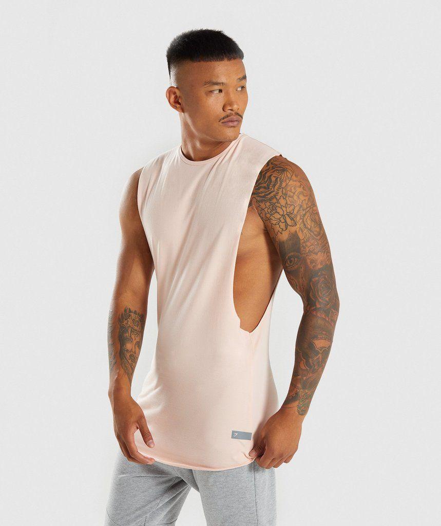 48090fae4d6f39 Gymshark Eaze Sleeveless T-Shirt - Blush Nude 1
