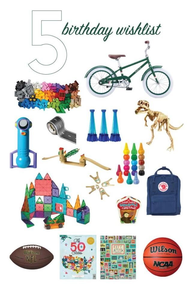 5 Year Old Boy Birthday Gift Ideas