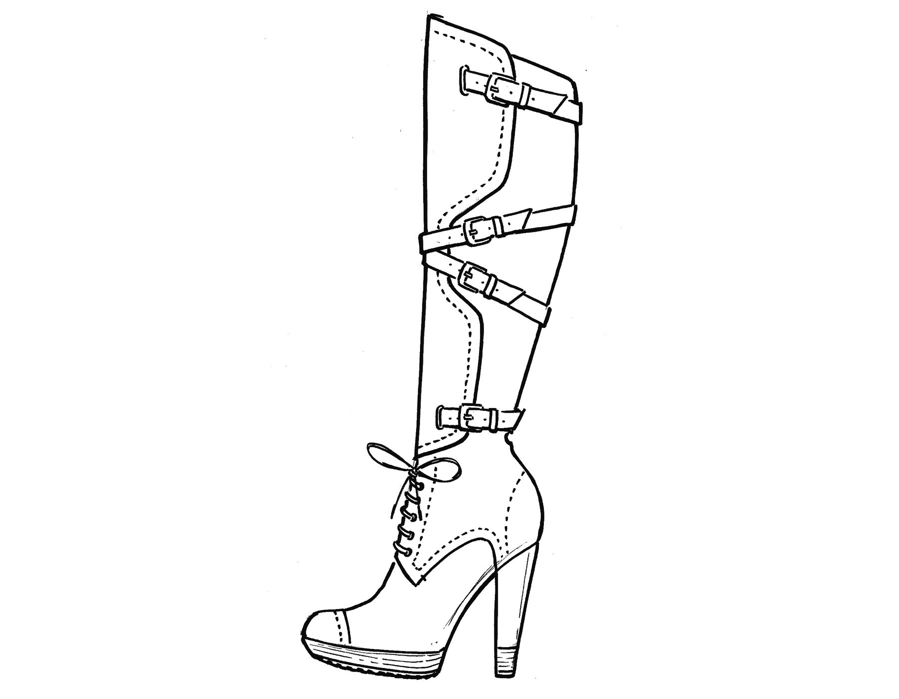 High Heel Shoes Coloring Pages