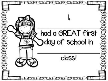 First Day of School Coloring Sheet FREEBIE by Countless Smart ...