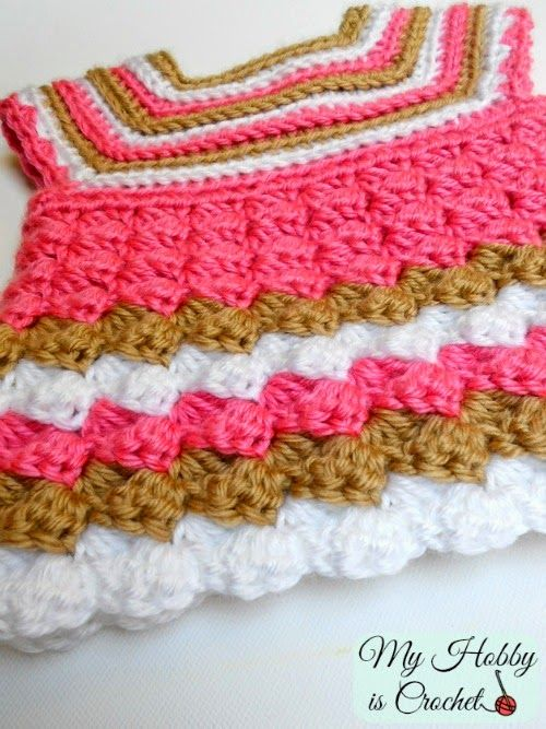 1eaf4b83b Stripes and Bubble Baby Cardigan - Free Crochet Pattern