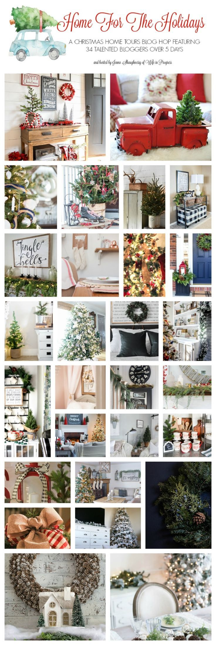 TONS of Christmas decorating ideas for the