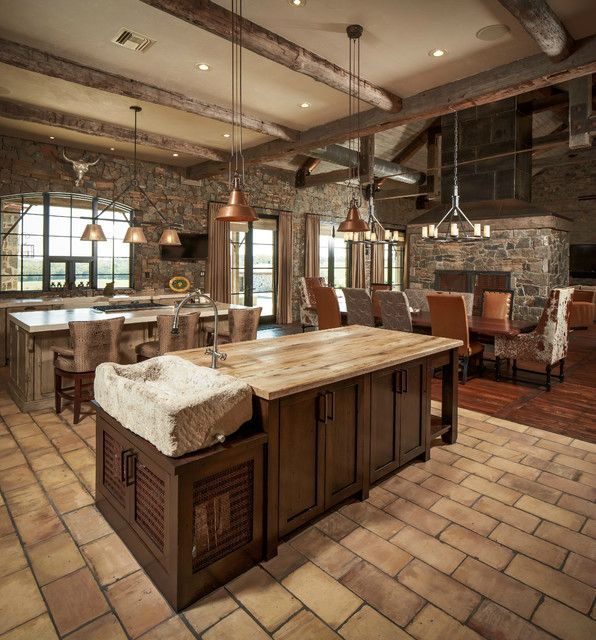 Rustic Open Kitchen Designs reclaimed-wood-rustic-countertop-36 (596×640) | new house