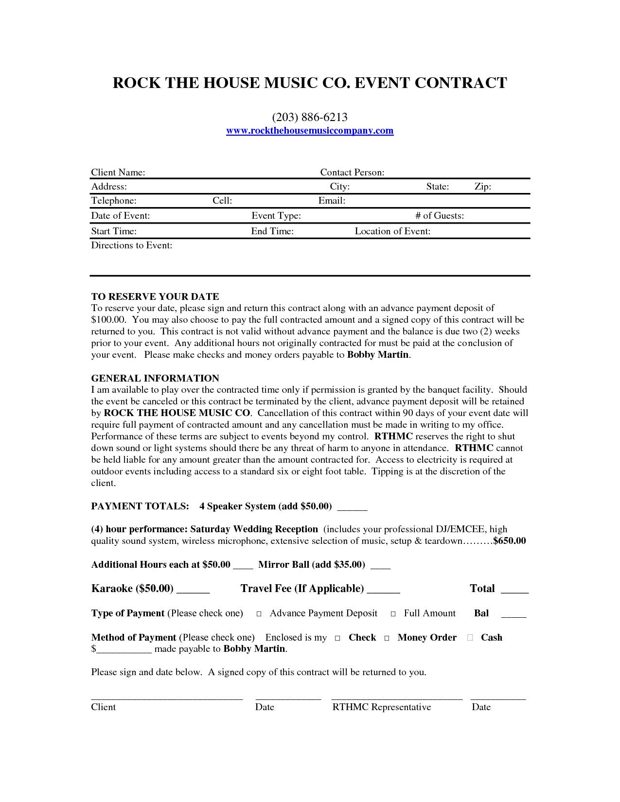 28 Dj Service Contract Template in 2020 Contract