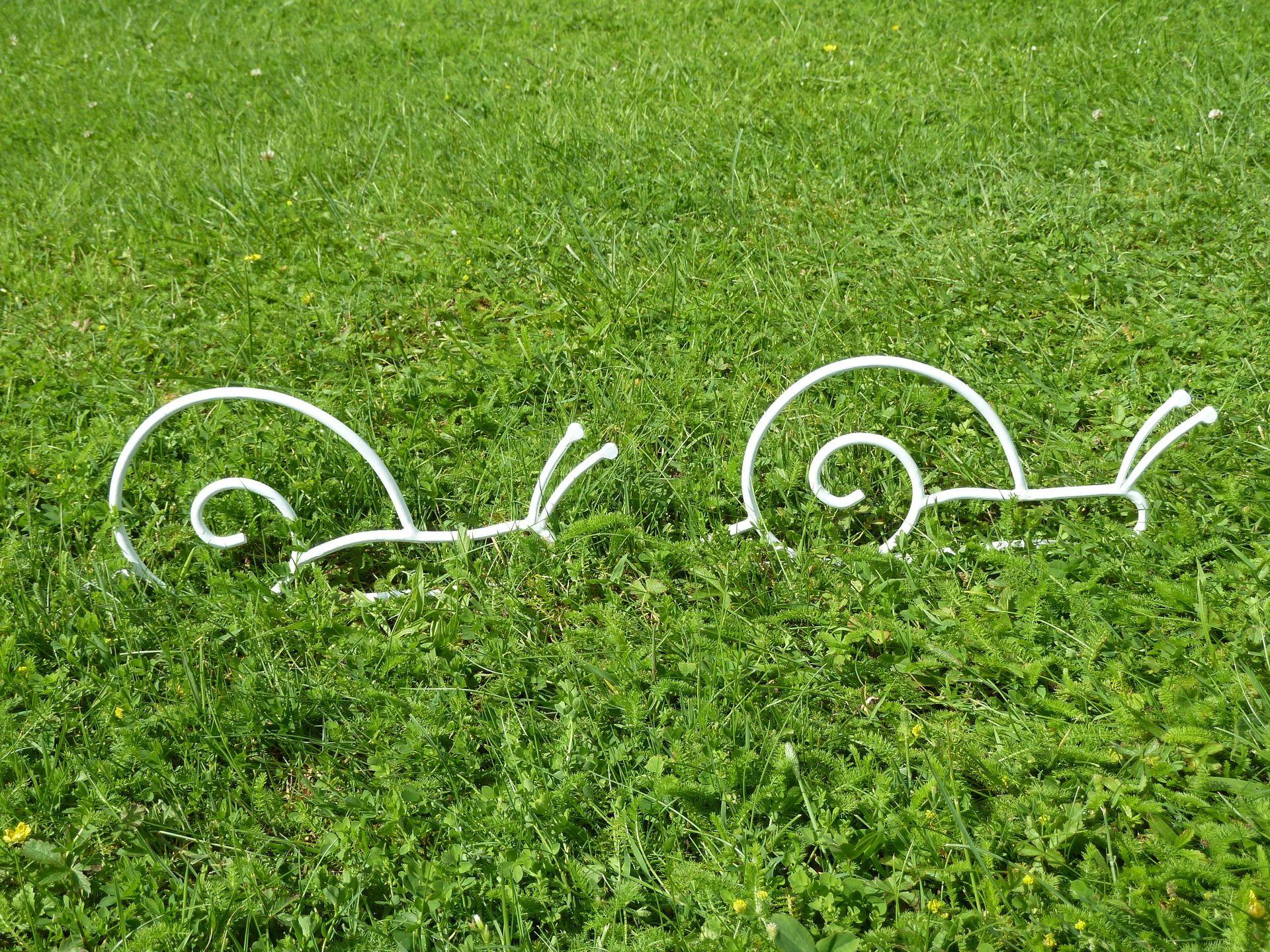 Escargot blanc en fer forgé pour décoration de jardin n° 4 et 5 ...
