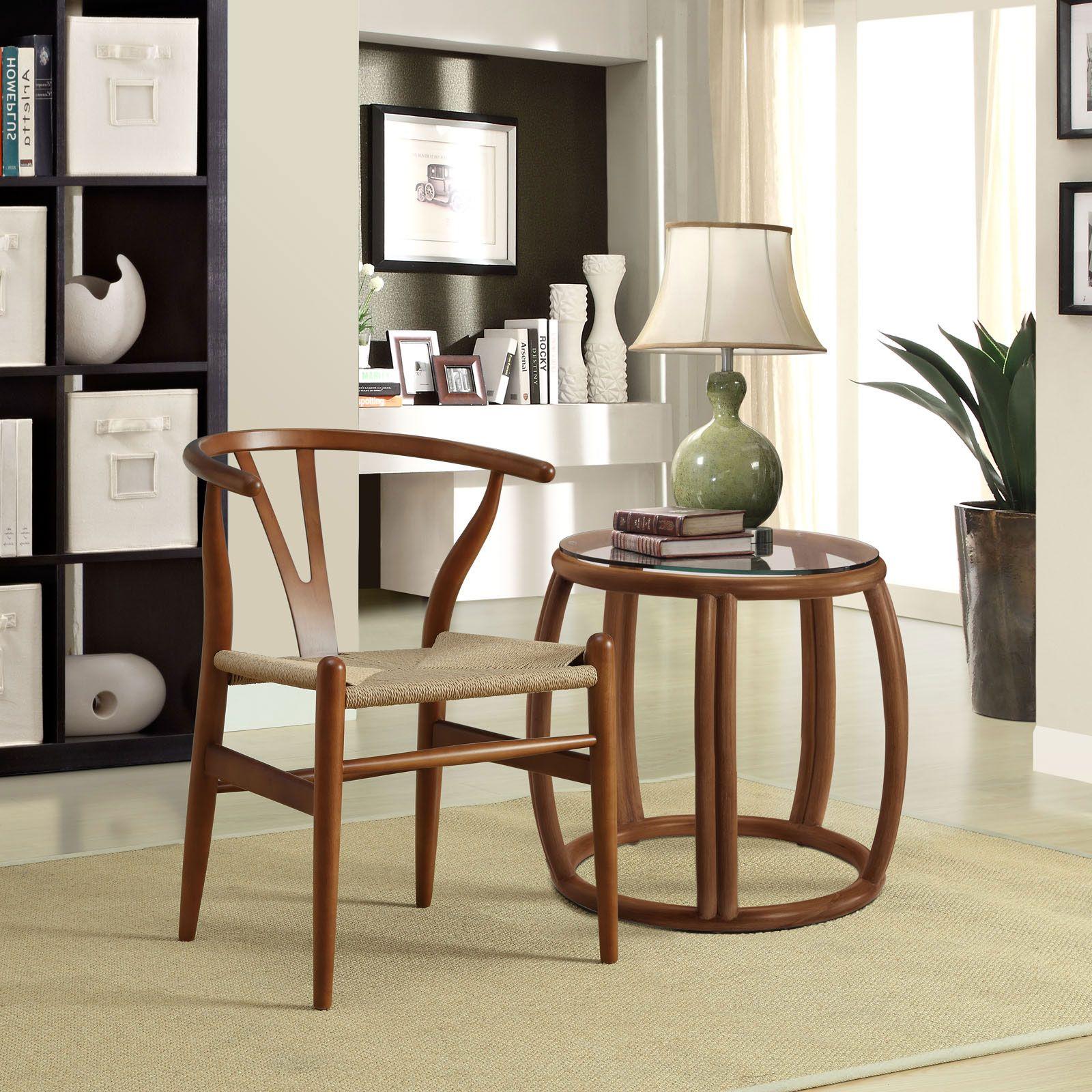 Woven Shaker Chair in Walnut dotandbocom
