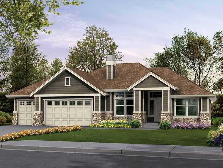 Eplans Craftsman House Plan - Clic Rambler Perfect for ... on rambler house plans and designs, mid century modern room designs, rambler style house designs, custom ranch home designs, rambler house exterior designs,