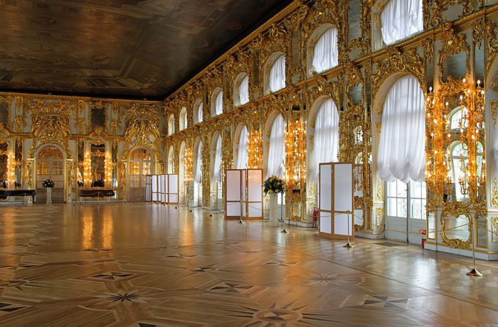 The ballroom inside Catherine's Palace. | Imperial Russia ...
