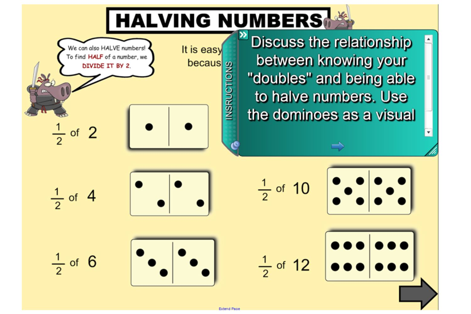 Explore how to halve even and odd numbers with this fantastic IWB lesson.  Begin with a review of the ter…   Interactive activities [ 1000 x 1500 Pixel ]