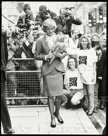 25 October 1988 Princess Diana Patron Of The Child Accident Prevention Trust Attending The Annual General Meeting In London..