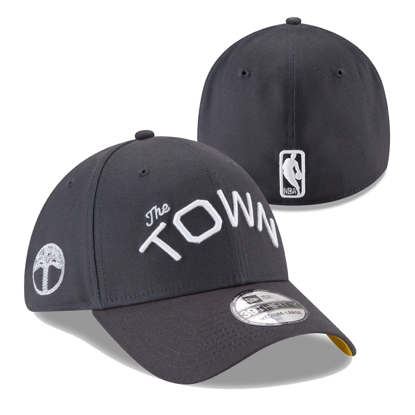 7ef6ffb8a2579 Golden State Warriors New Era  The Town  Wordmark 39THIRTY Flex Fit - Slate