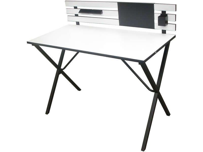 Bureau cm britanny coloris noir blanc vente de bureau