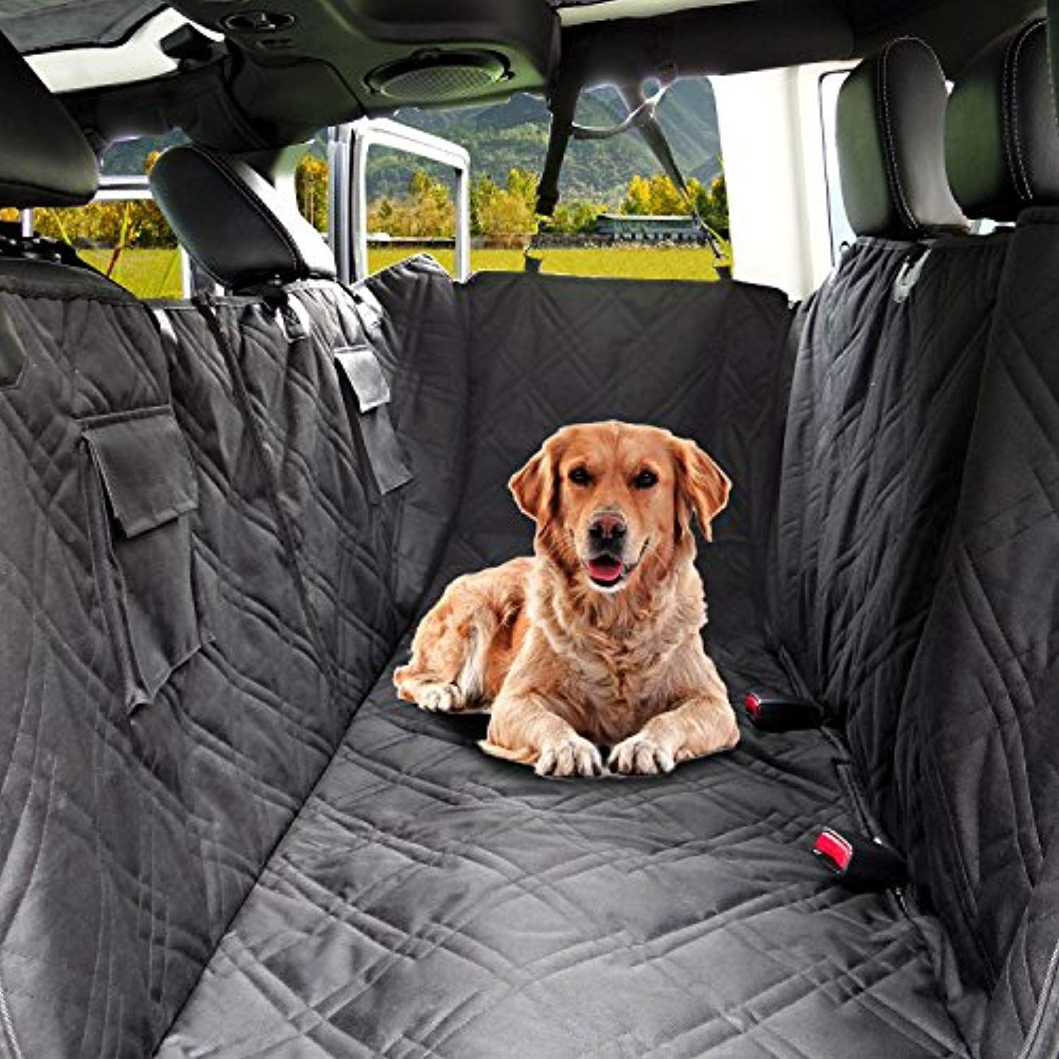 black At All Costs Durable Pet Back Seat Cover Waterproof Scratchproof Pet Protector Pet Seat Cover Hammock For Cars