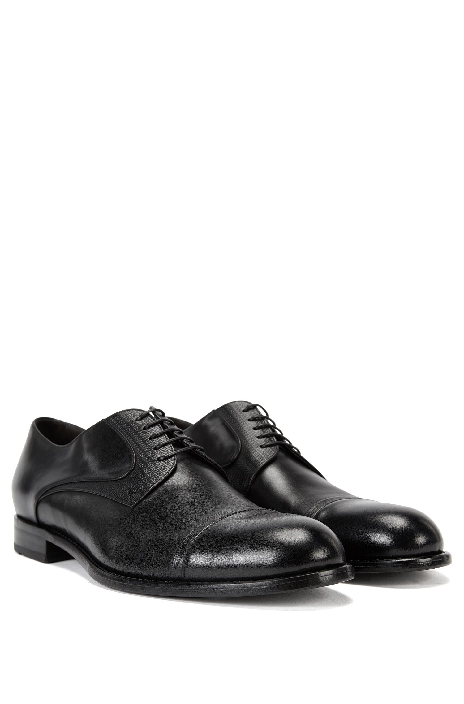 Derby shoes with embossed leather upper BOSS Q6Hdm3U60