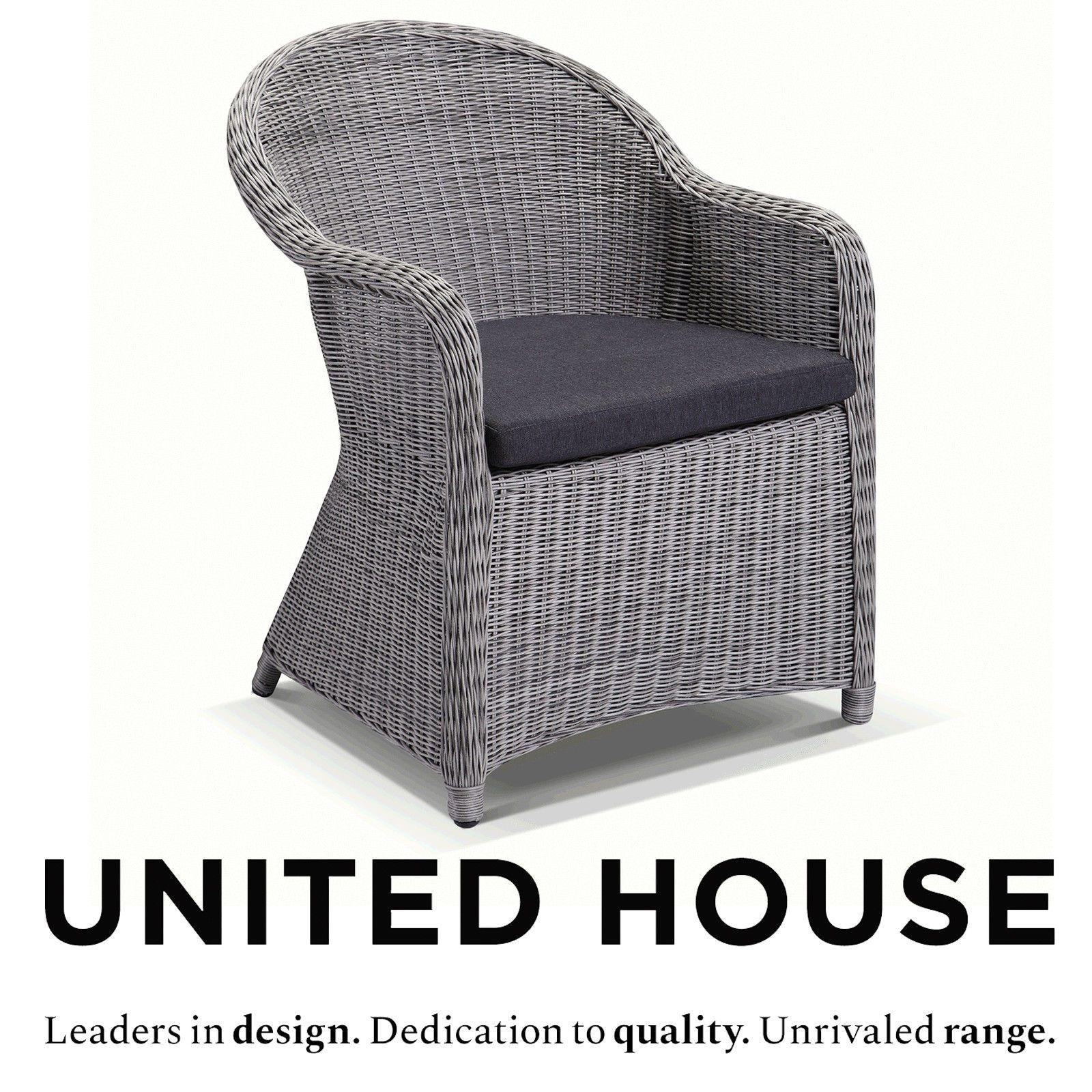 plantation dining chair brushed grey wicker with denim grey rh pinterest com