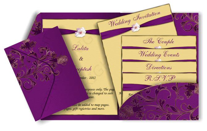 pocket style indian wedding invitation card design 13