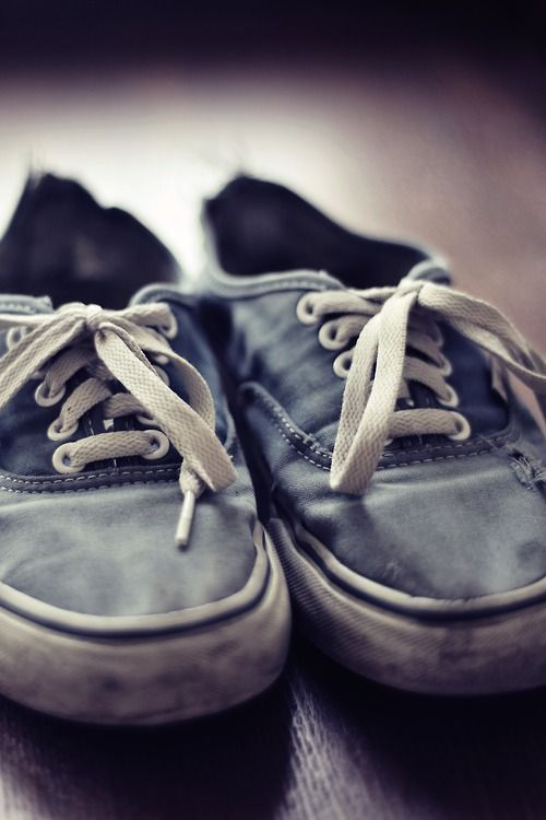 I really like worn vans, they really show character in my opinion. As long as they don't smell!