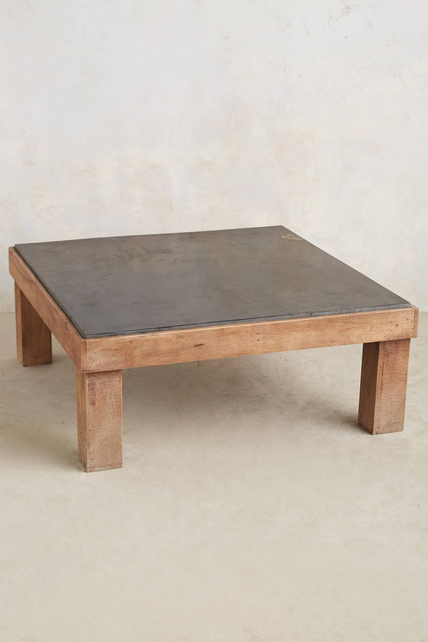 Slate Inset Coffee Table