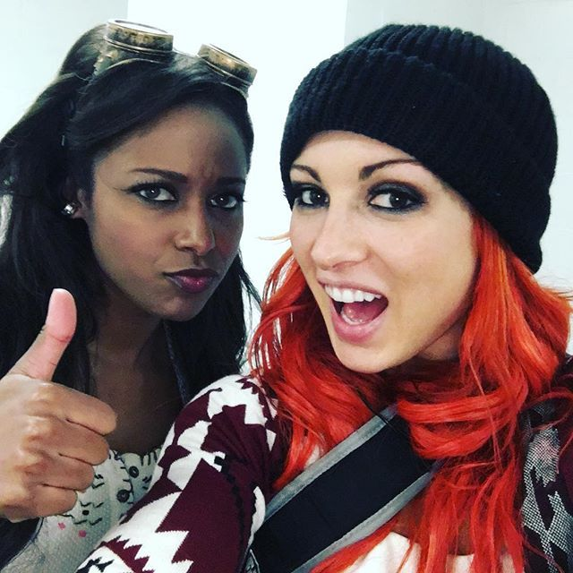 Eden and Becky Lynch