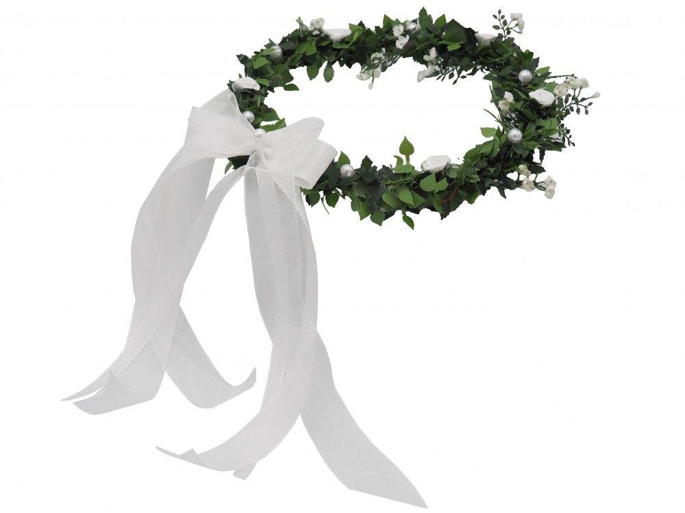 4959c2aee67f59 Hochzeit Haarschmuck Haarkranz Weiß Kopfschmuck Kommunion Hochzeit  Accessoires
