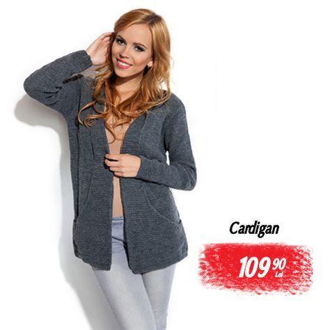 Cardigan de dama gri deschis scurt cu maneci lungi  cardiganedama  casual   pulover  femei e1fbfdfaf181