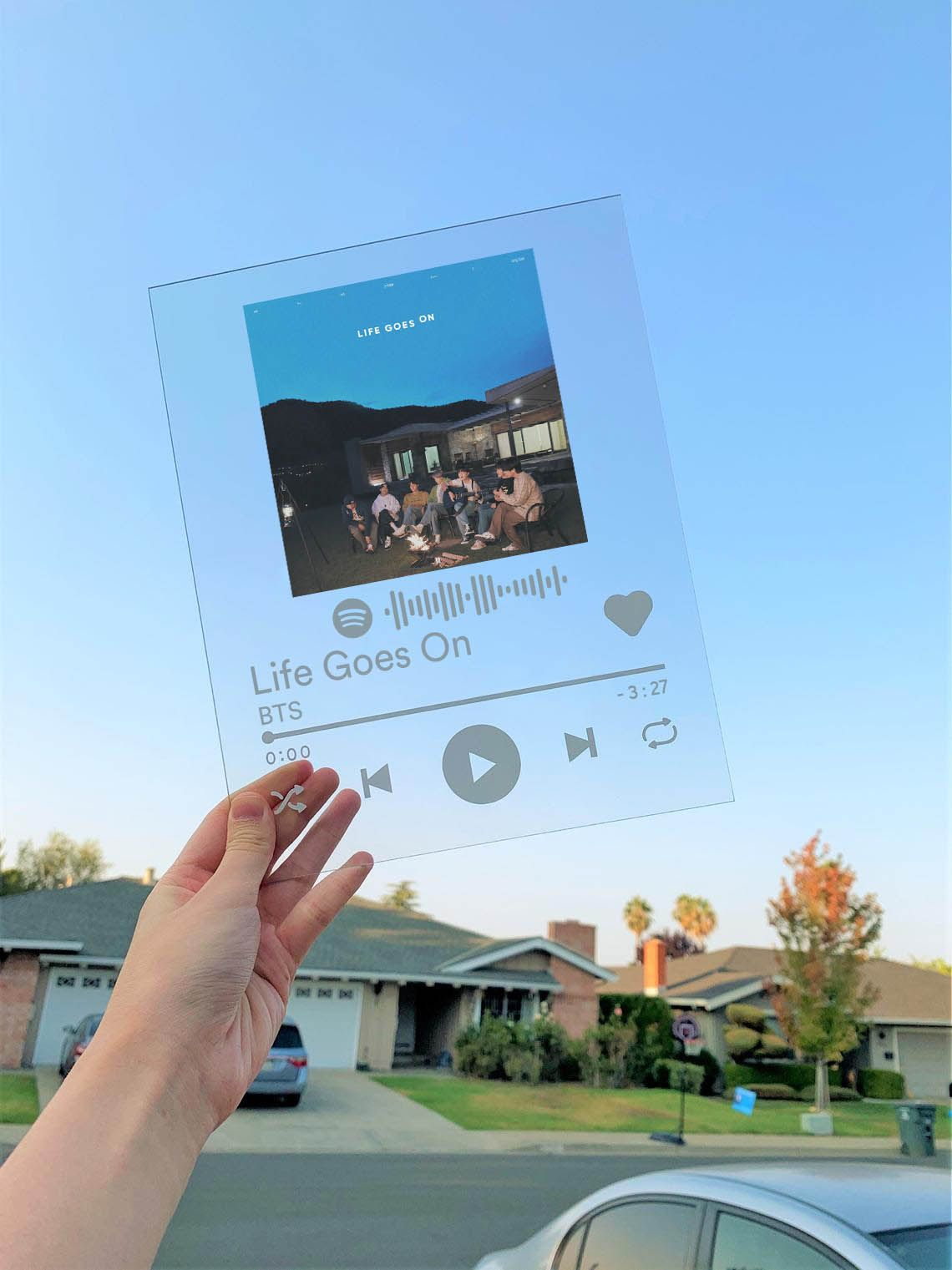 BTS Life Goes On Spotify Acrylic Plaque with Spoti