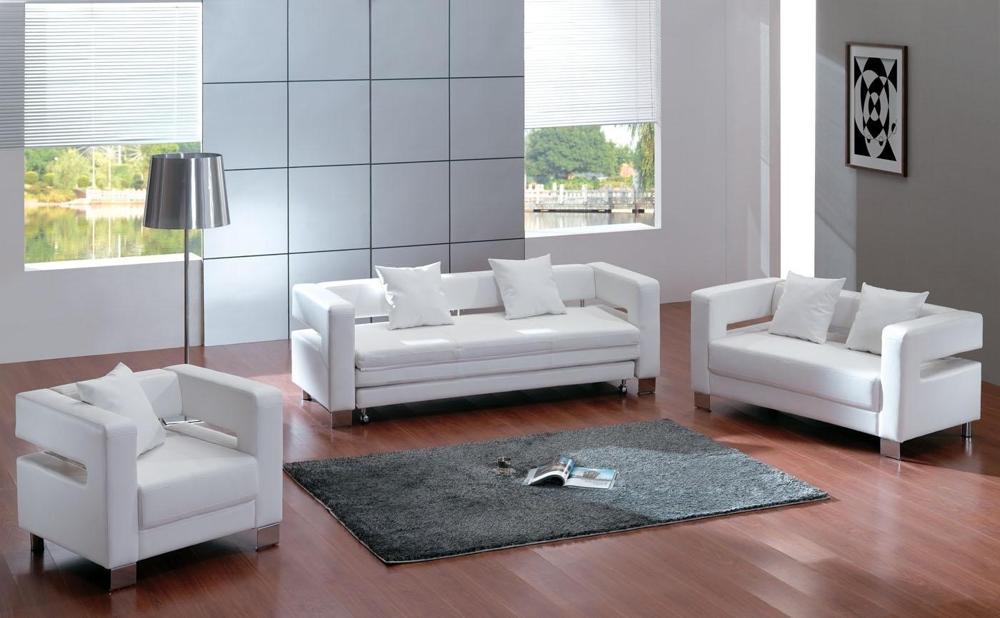 Elegant White Sectional Sofa Set In Modern