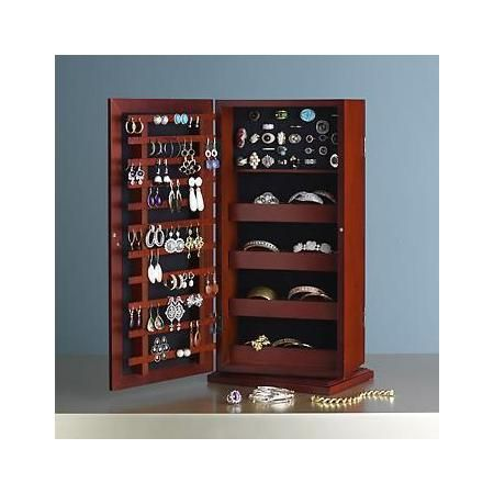 RossSimons Cherry Safekeeper Spinning Jewelry Organizer Great