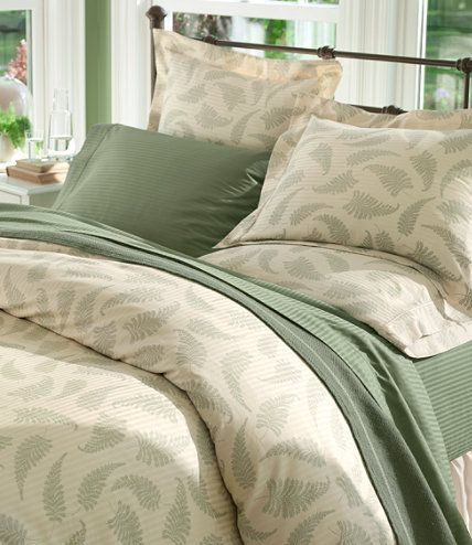 Supima Sateen Comforter Cover Print Comforter Covers Free Shipping At L L Bean Comforter Cover Home Organization Bedroom