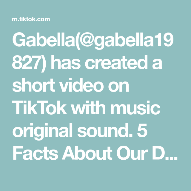 Gabella Gabella19827 Has Created A Short Video On Tiktok With Music Original Sound 5 Facts About Our Dreams Deargeet Master Closet Music Record Collection