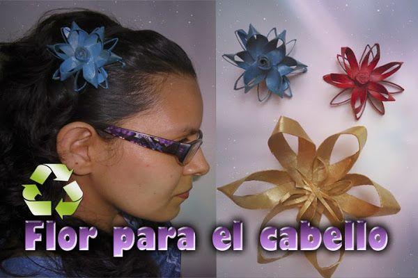 Flor de tubos de papel para el cabello | DIY | 'Me gusta reciclar'