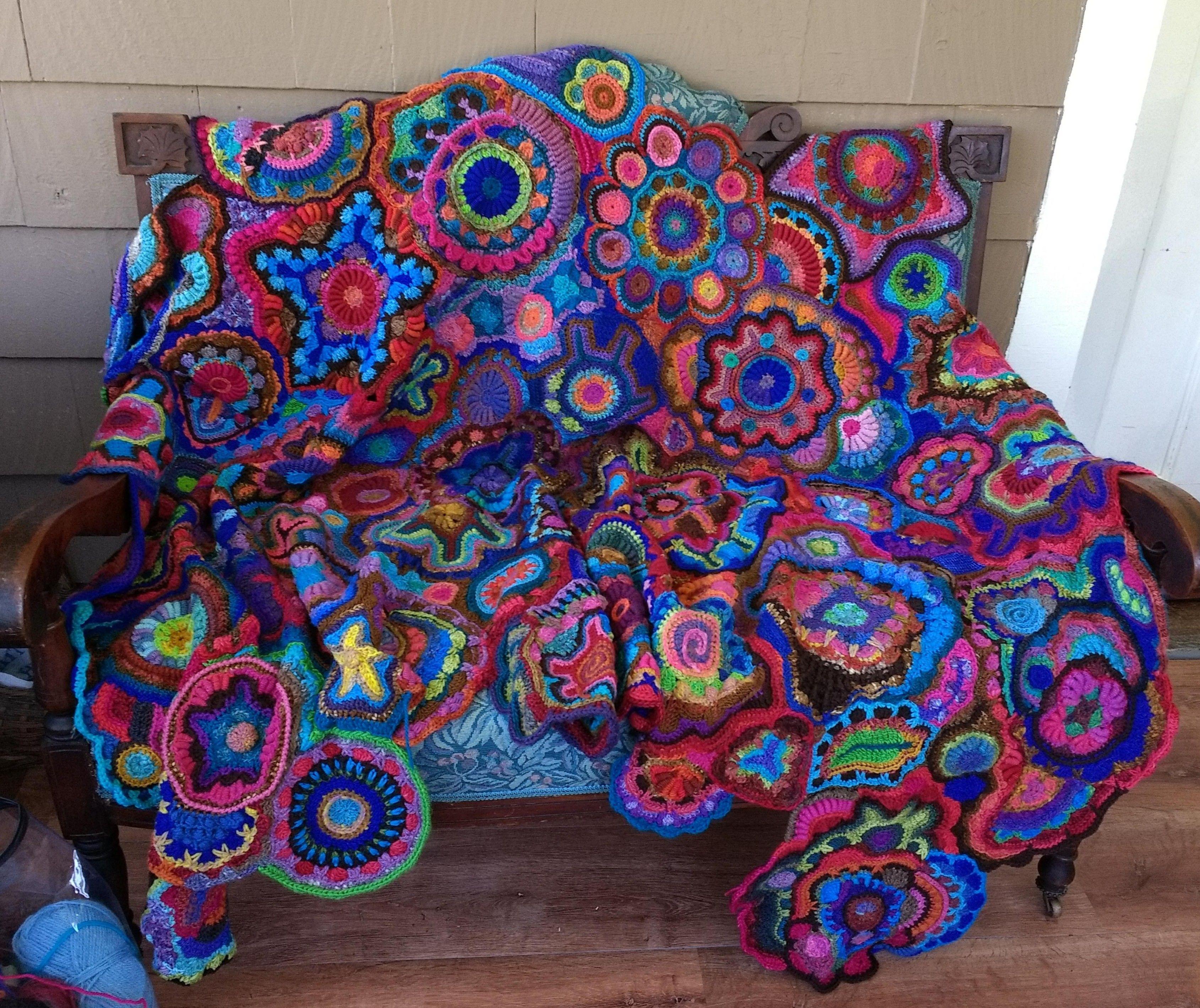 My Freeform Crochet Psychedelic Security Blanket Crochet Home Crochet Blanket Crochet Blanket Patterns