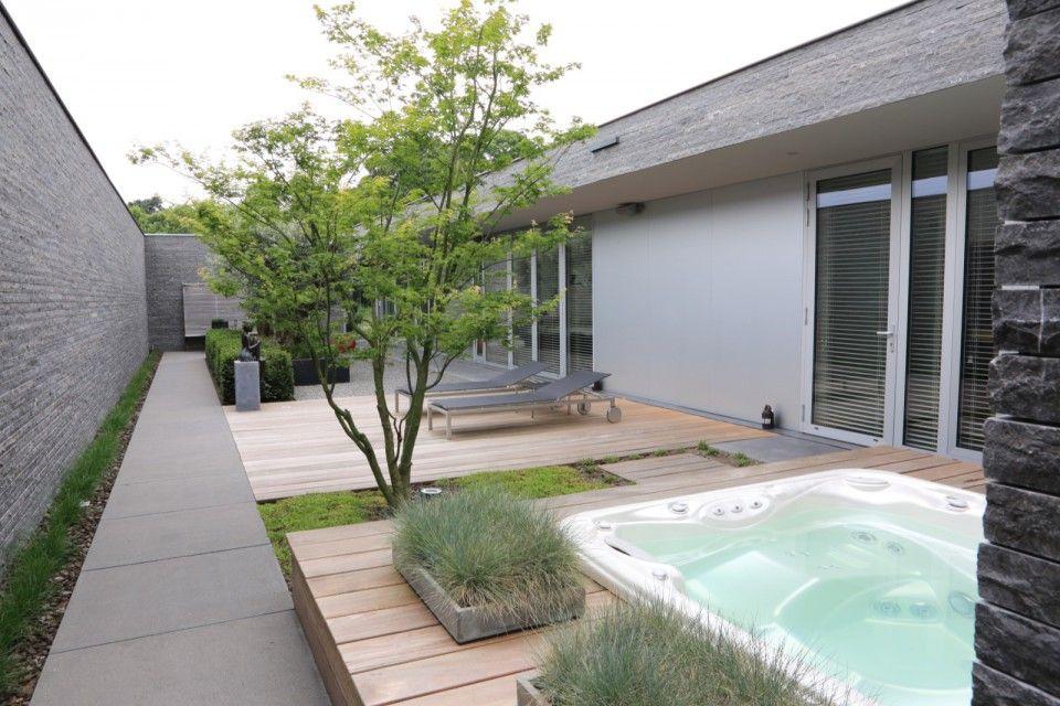 Puur groenprojecten moderne tuin met patio moderne tuin met
