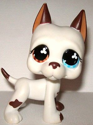 Littlest Pet Shop Lps Great Dane 577 Dog Puppy Mulit Colored Eyes
