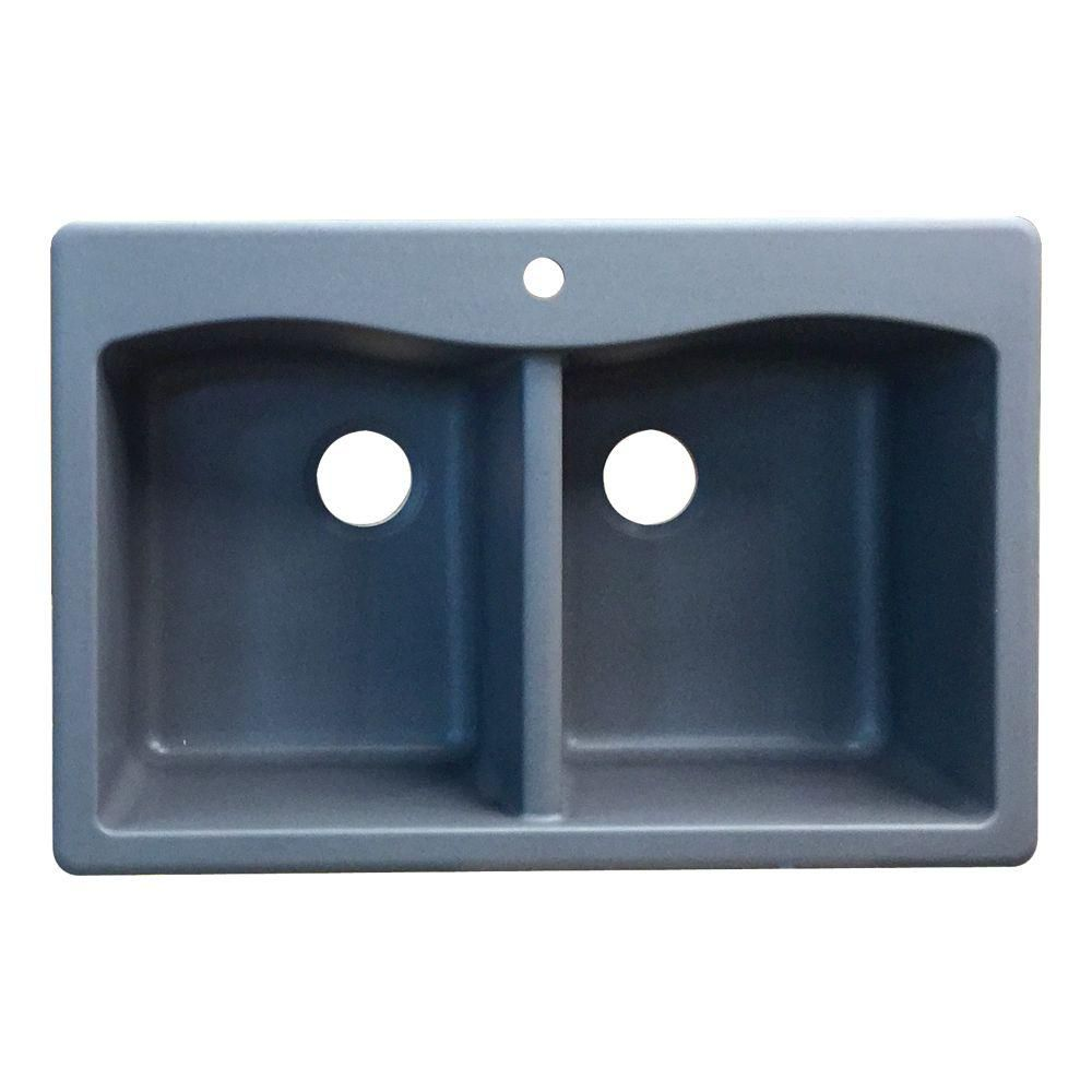 1 Hole Equal Double Bowl Kitchen Sink in