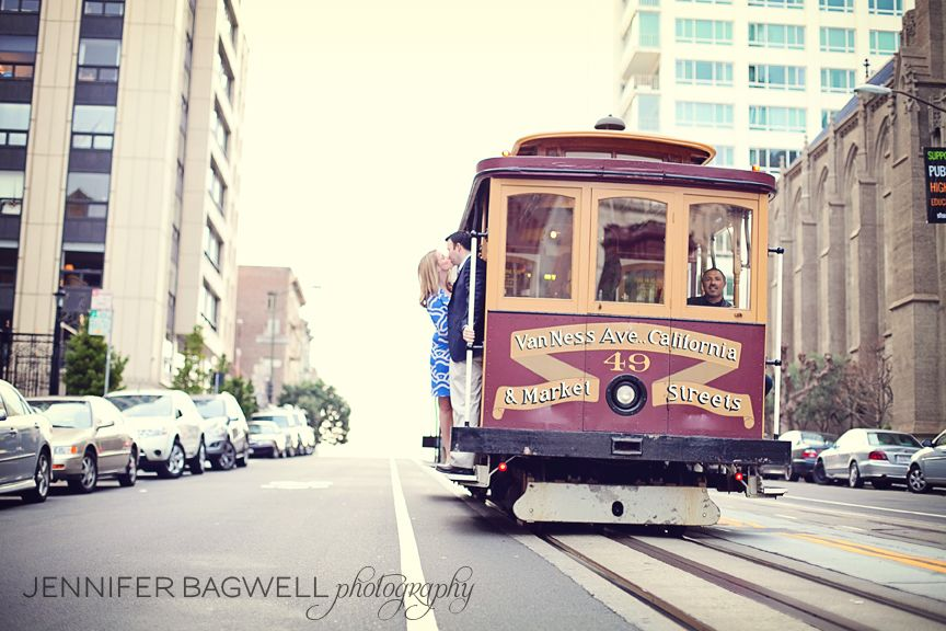 beautiful wedding places in northern california%0A Lauren   Phil  san francisco engagement photos  trolly car engagement  photo  sonoma county wedding photographer  L Metzger Bagwell