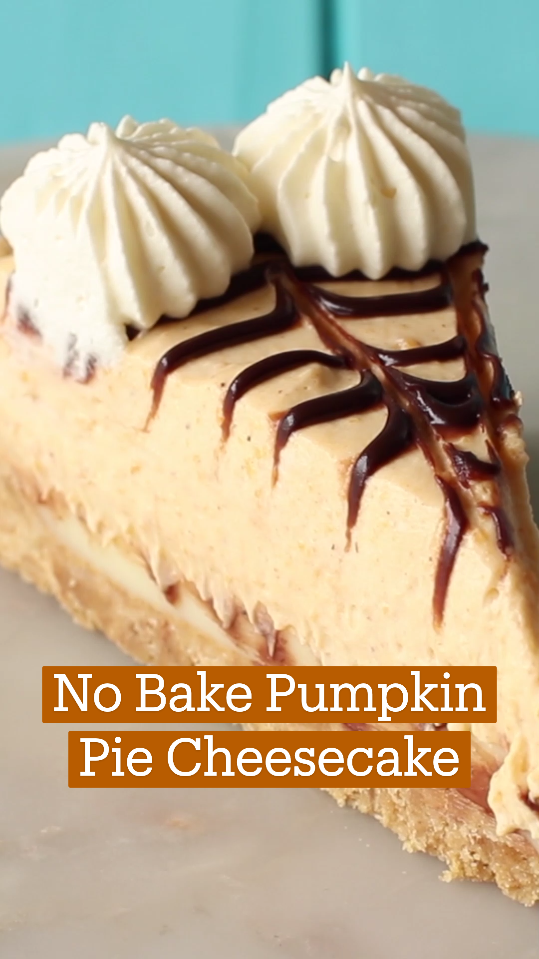 Photo of No Bake Pumpkin Pie Cheesecake