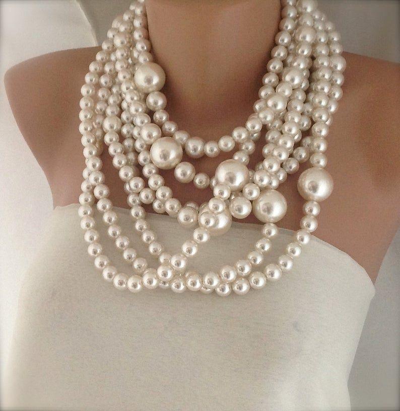Bridal jewelry statement bridal necklacebridesmaids