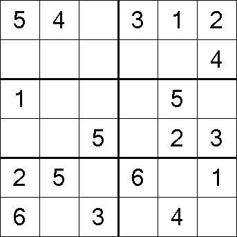 łatwe sudoku 6x6 do druku 16 | matematyka | Matematyka