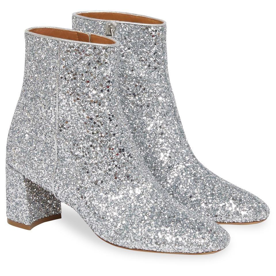 Mansur Gavriel Glitter 65MM Ankle Boot Silver | shoes in