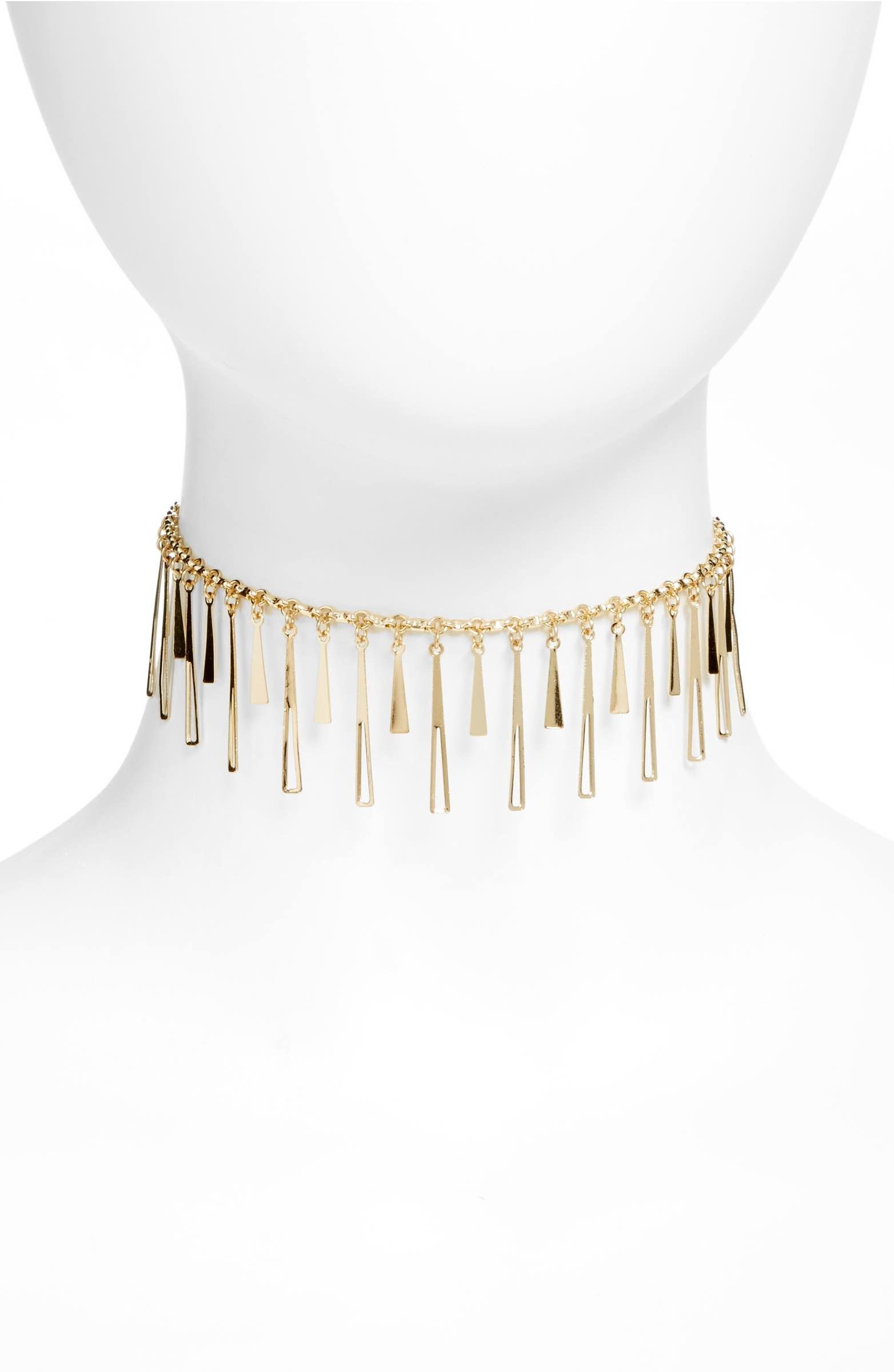 Main Image - Topshop Drop Stick Choker