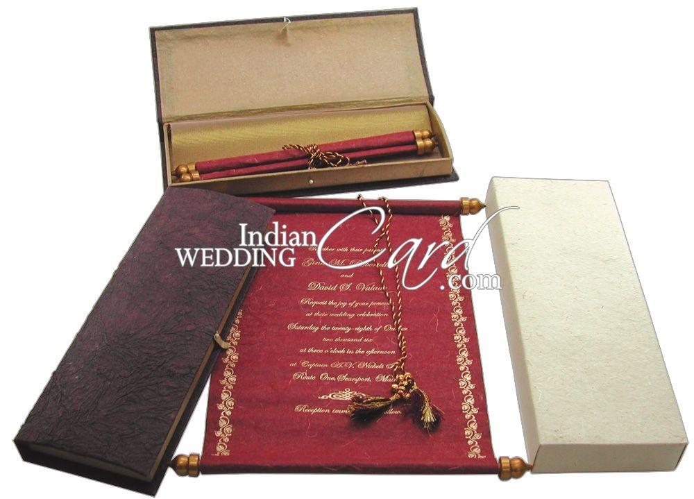 indian wedding hindu invitations%0A Scroll Invitation  Banner Design