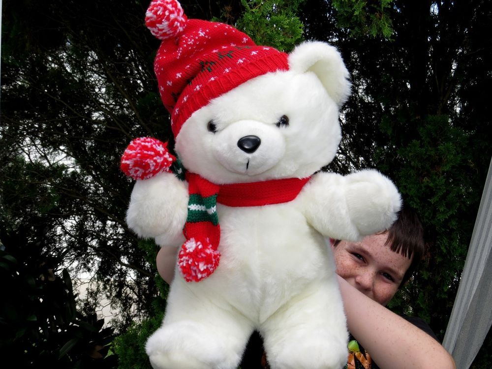 1986 Kmart Christmas bear | Teddy Bears | Pinterest | Bears, Teddy ...
