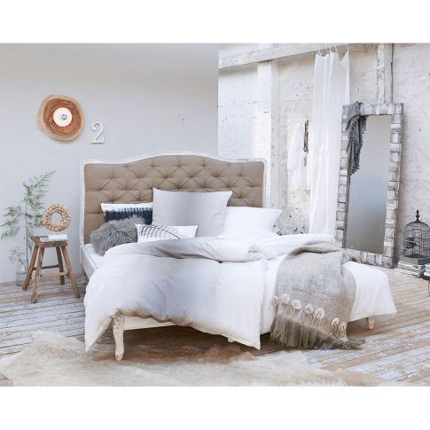 bett knopfheftung gestell massives mangoholz bezug 100 leinen katalogbild bedroom. Black Bedroom Furniture Sets. Home Design Ideas