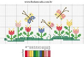 Resultado de imagem para graficos de flores em ponto cruz