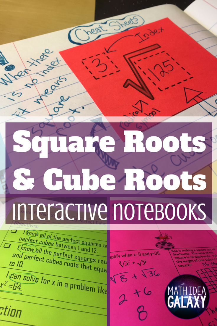Teaching Square Roots and Cube Roots with Interactive Notebooks    Interactive notebooks [ 1102 x 735 Pixel ]