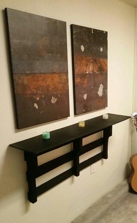 My floating pallet shelf.