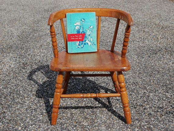 Small Wooden Chair Mesh Camping Vintage Childs Bentwood Mid Century Toddler Spindle Kids Wood Plant Stand Sold