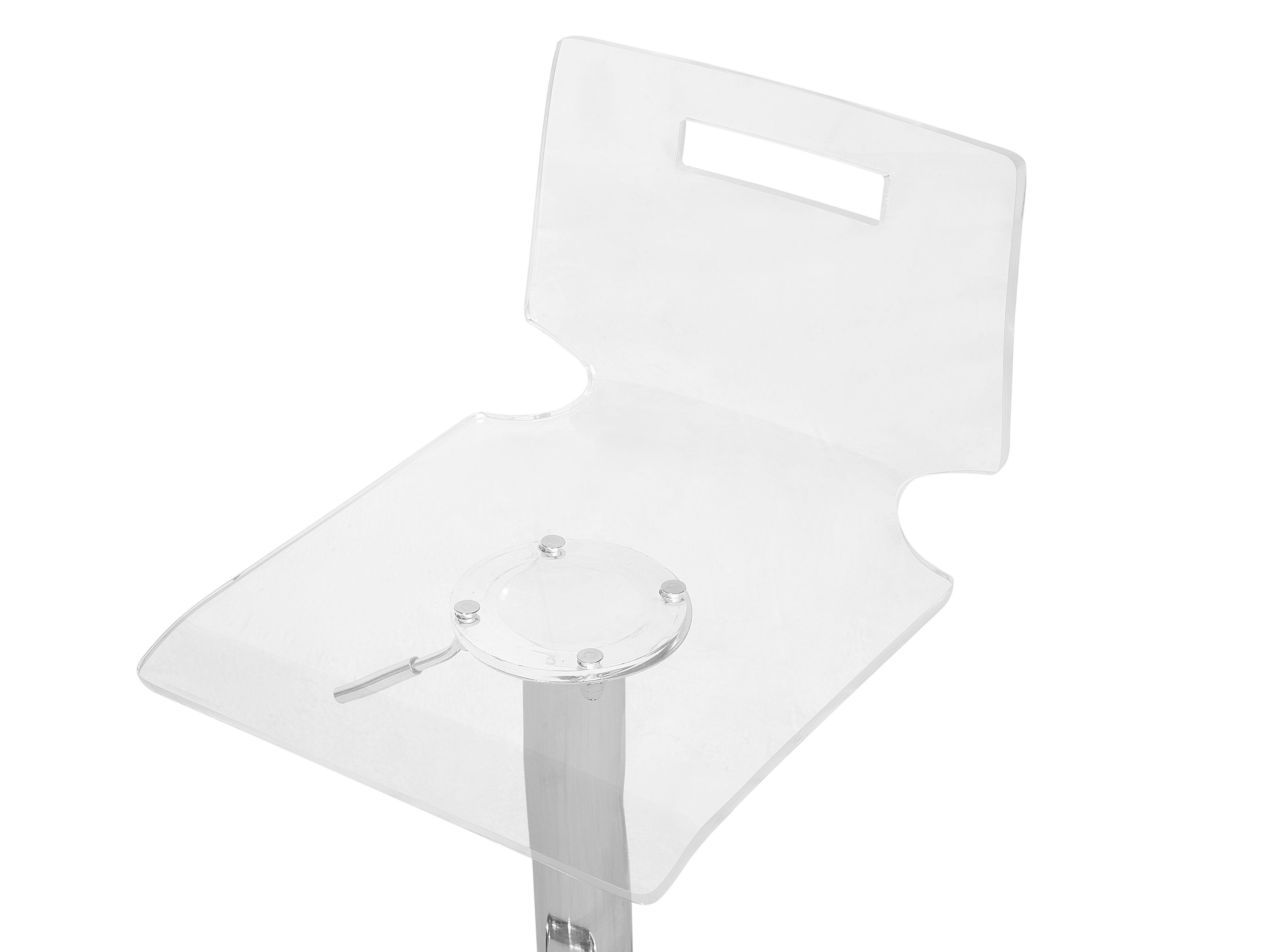 Sgabelli In Plastica Trasparente.Set Di 2 Sgabelli Da Bar In Plastica Trasparente Color Bianco